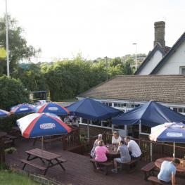 The White Hart Cuxton Beer Garden 1